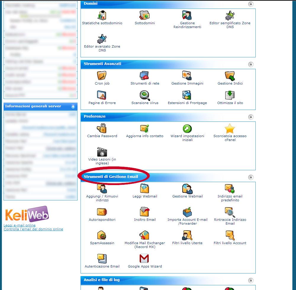 Configurare Email con cPanel