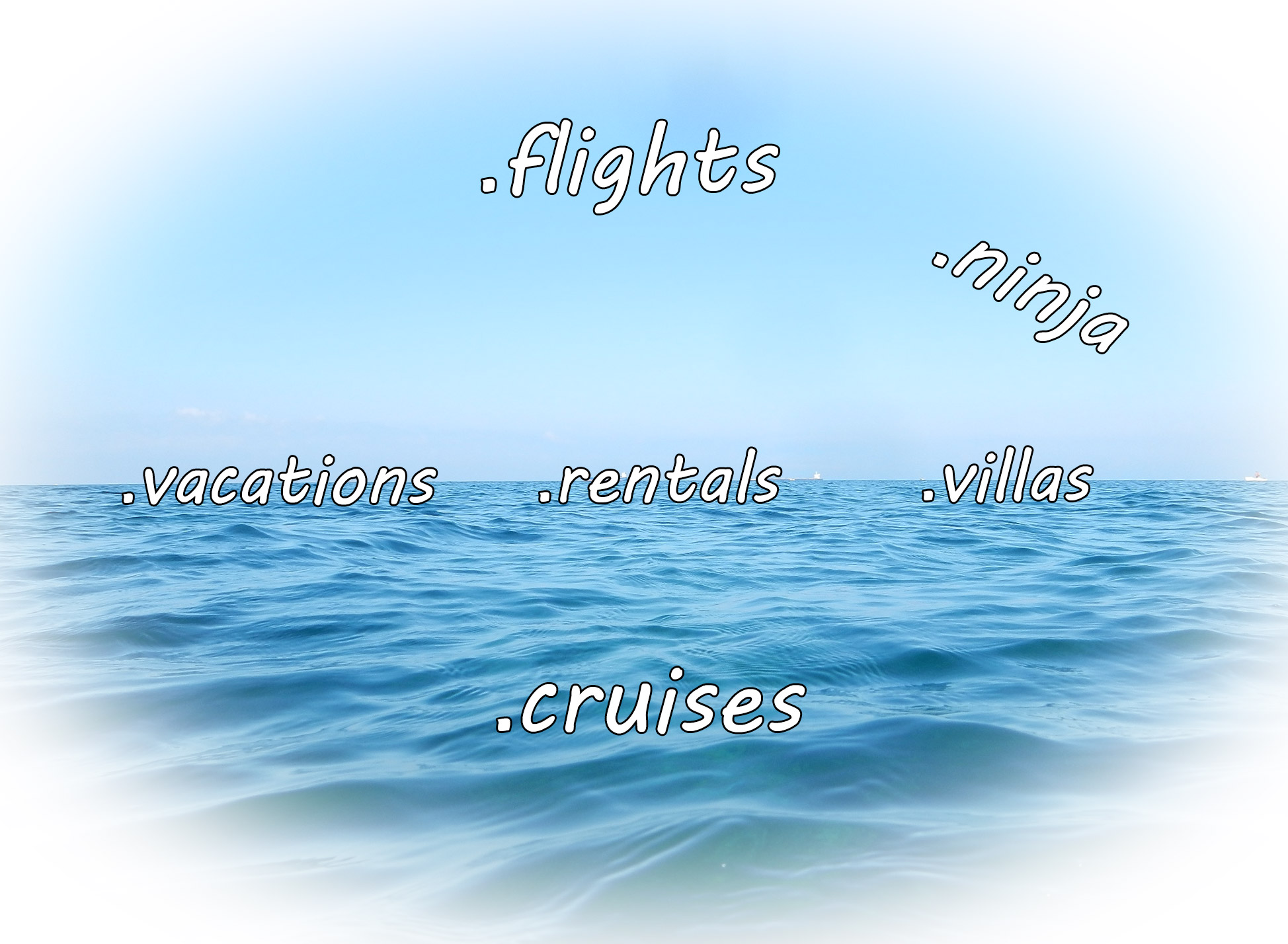 Nuove Estensioni a dominio registrabili: .cruises .flights .rentals .vacations .villas .ninja
