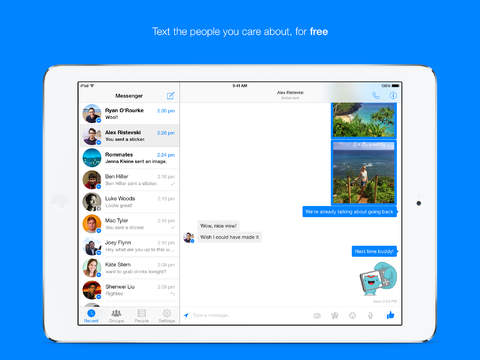 Facebook Messenger per iPad