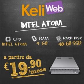 Hosting Intel Atom a partire da 19.90