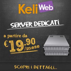 Server dedicati a partire da 19.90