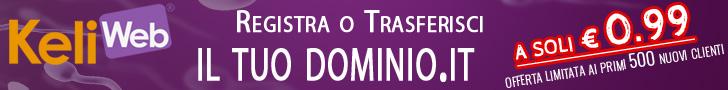 offerta dominio .it 0.99 cent