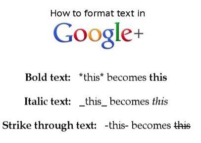 google-plus-formattazione-testo