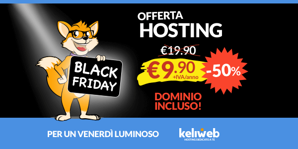 black friday offerta hosting