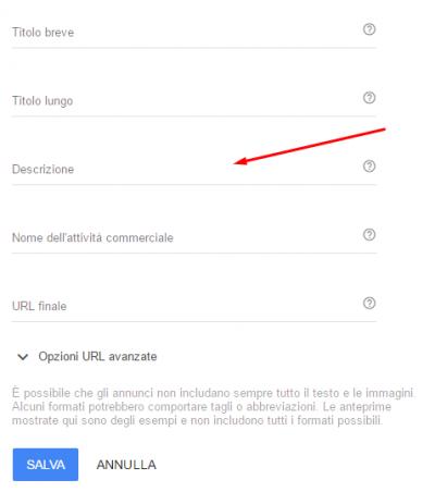creare annuncio adwords passo 3.1