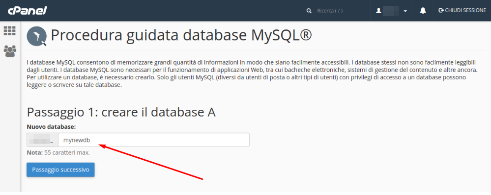 come-creare-database-mysql-su-cpanel-step-2