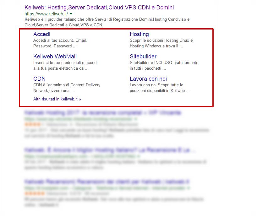 sitelink google seo