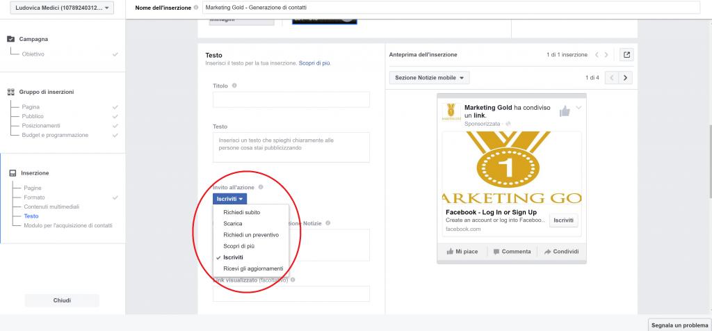 facebook lead ads schermata 9