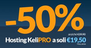 web hosting sconto 50%