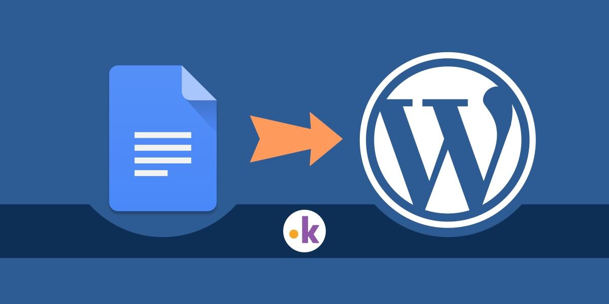 scrivere su google docs pubblicare su blog wordpress
