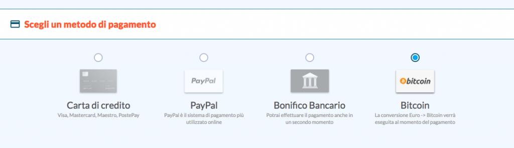pagamenti in bitcoin