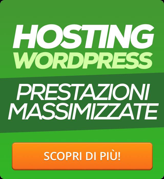 hosting ottimizzato wordpress