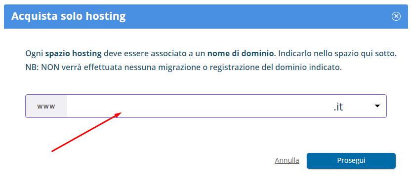 associa dominio