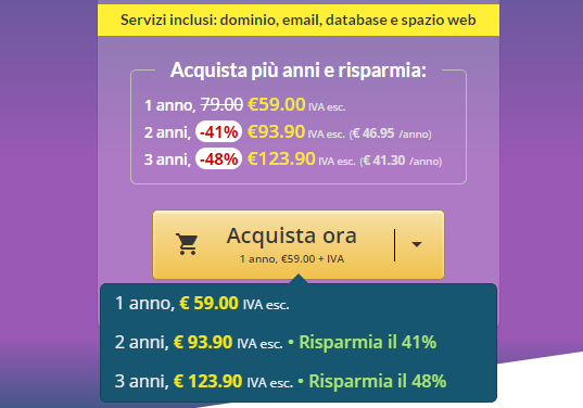 comprare hosting