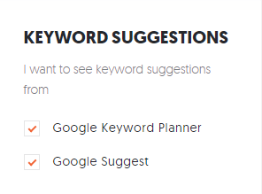 ubersuggest keyword suggestions