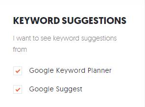 ubersuggest keyword suggestions