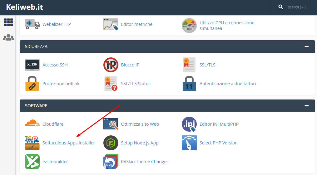 cpanel softaculous app installer icona