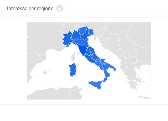 google trends interesse per regione