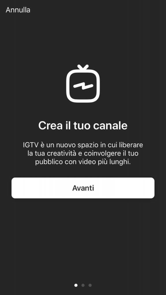 instagram igtv crea il tuo canale