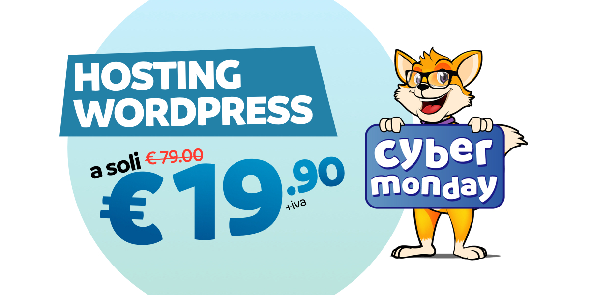 cyber monday offerta hosting wordpress