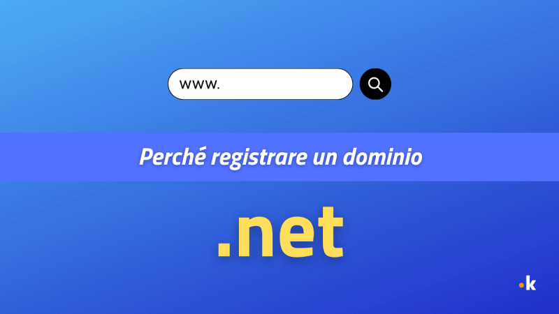 perché registrare un dominio .net