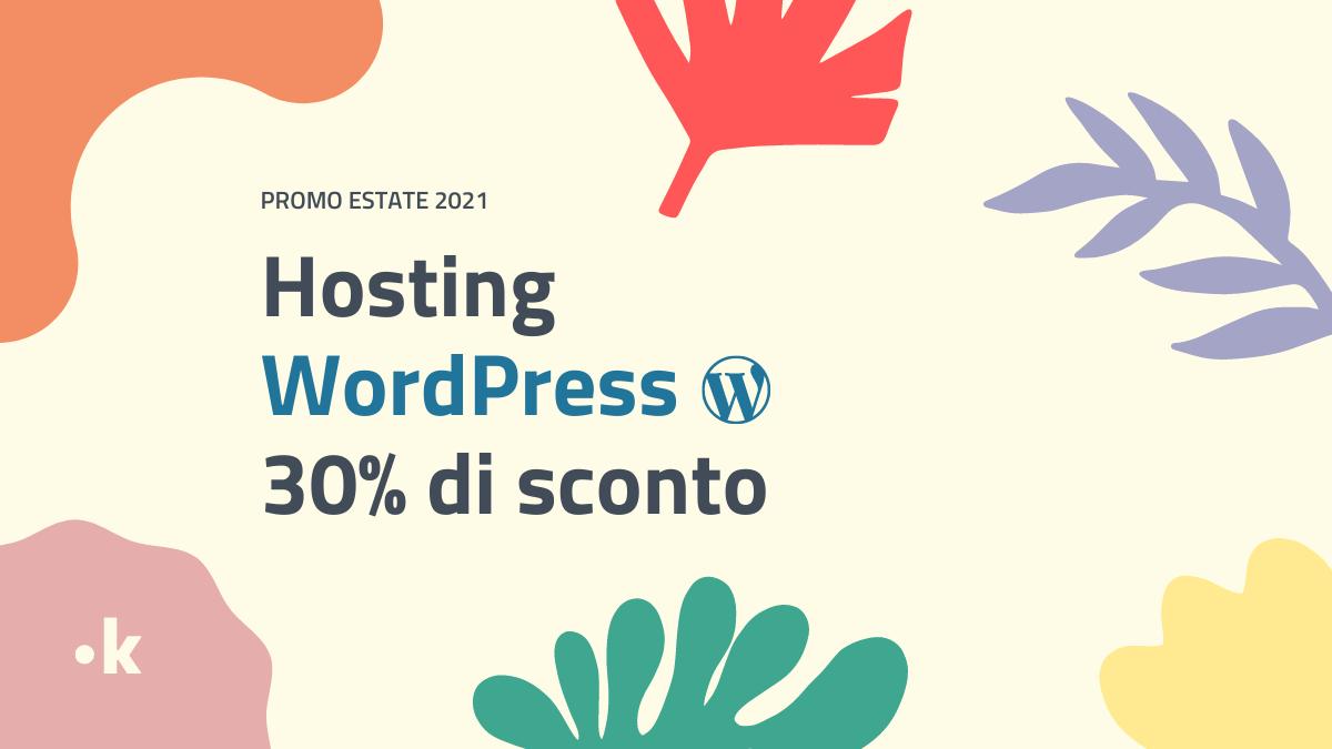 offerta hosting wordpress