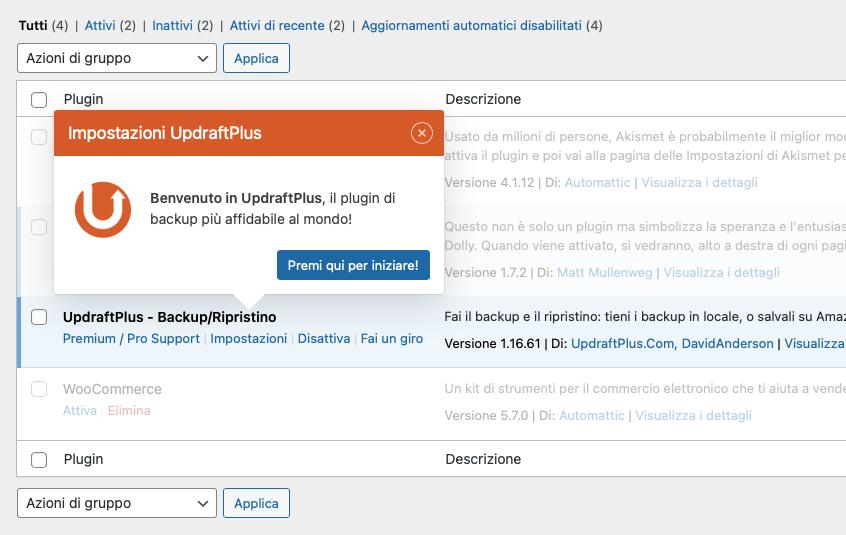 plugin-updraftplus-impostazioni